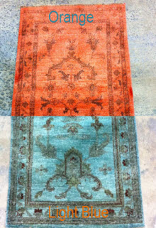 Over Dye Silk Leather Antique Area Rug Cleaning Farmingdale Overdyed