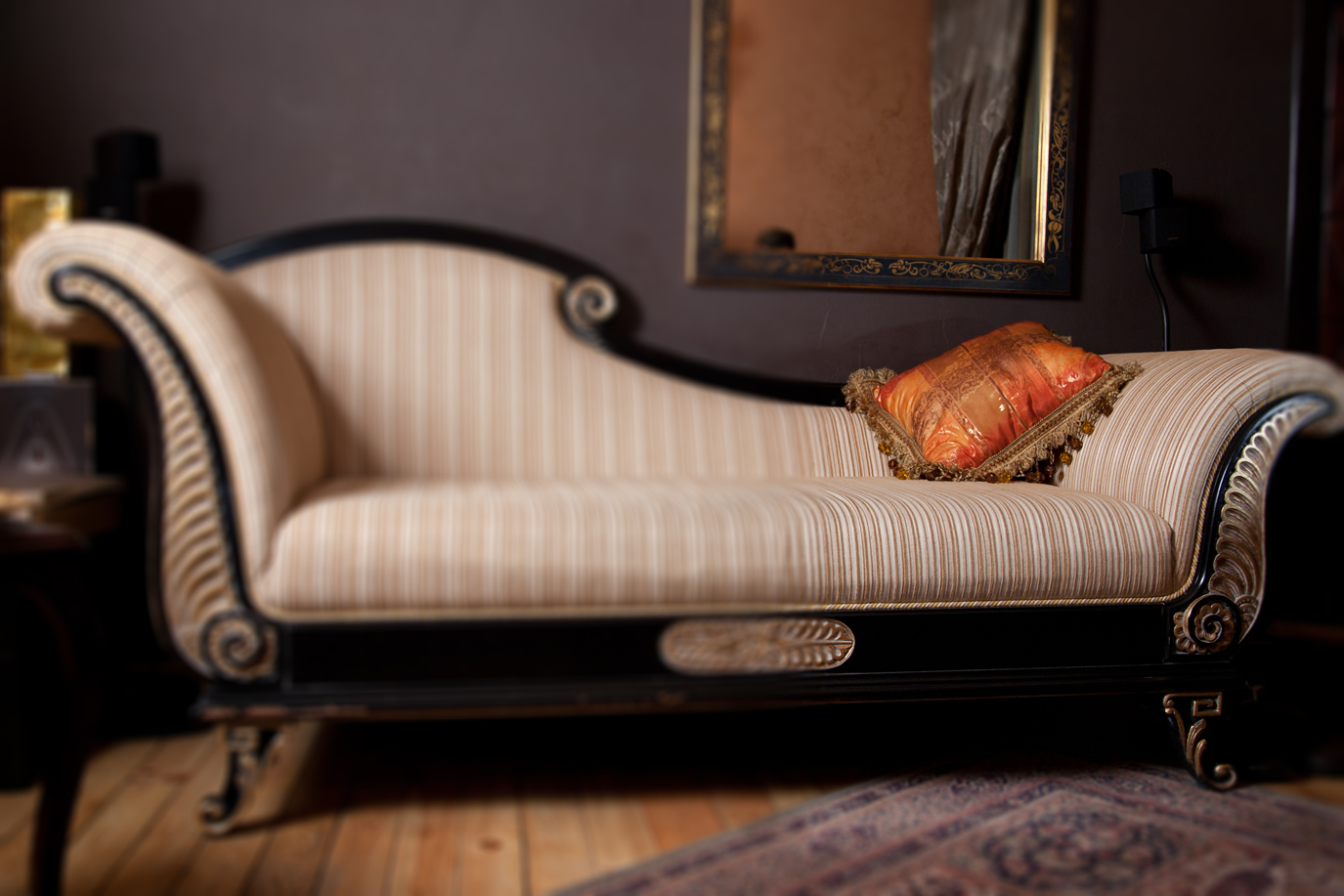 Antique Sofa Blur Upholstery Cleaning